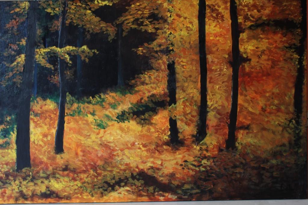 paisaje con hojas