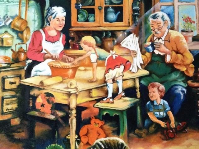Cocina antigua de la abuela