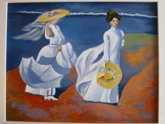 Damas en la playa