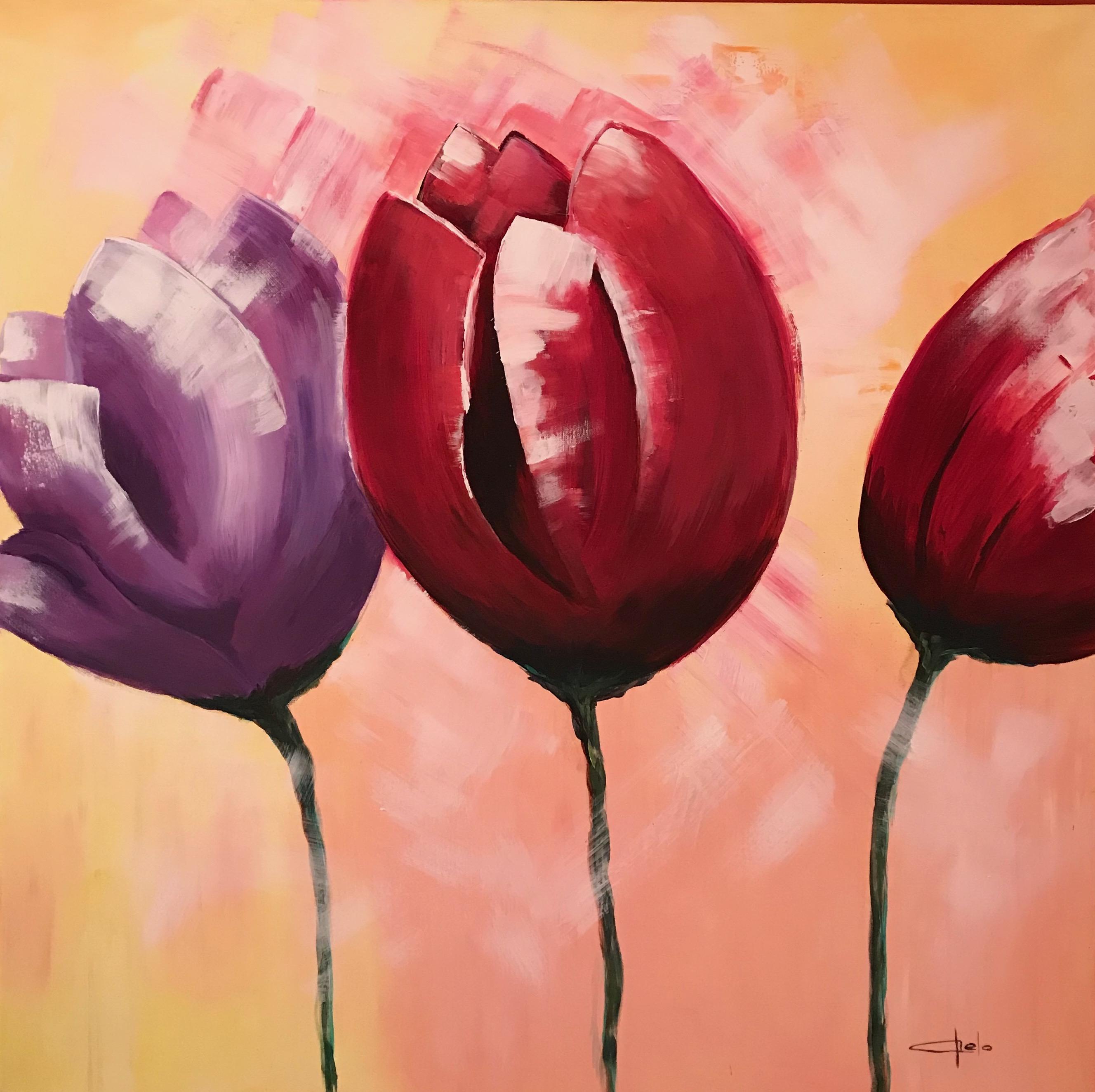«Tulipanes abstractos»