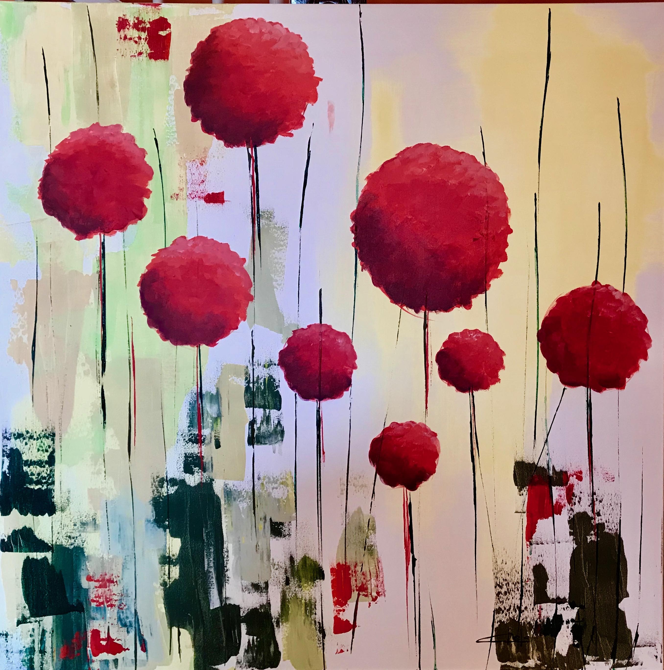 «Bolas de flores rojas 2»