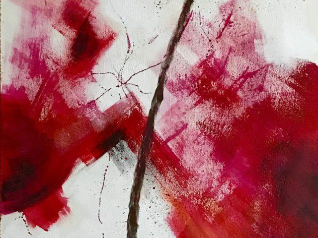 """""""Flor abstracta roja 2"""""""