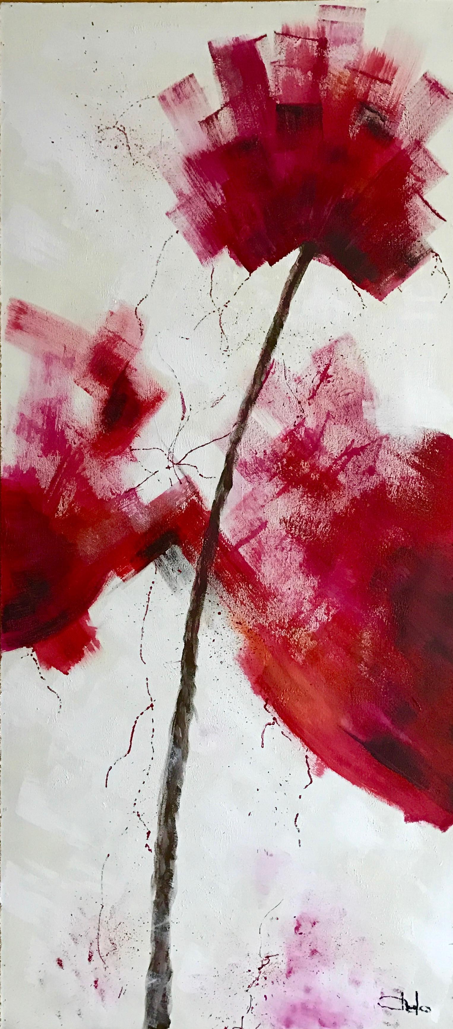 «Flor abstracta roja 2»