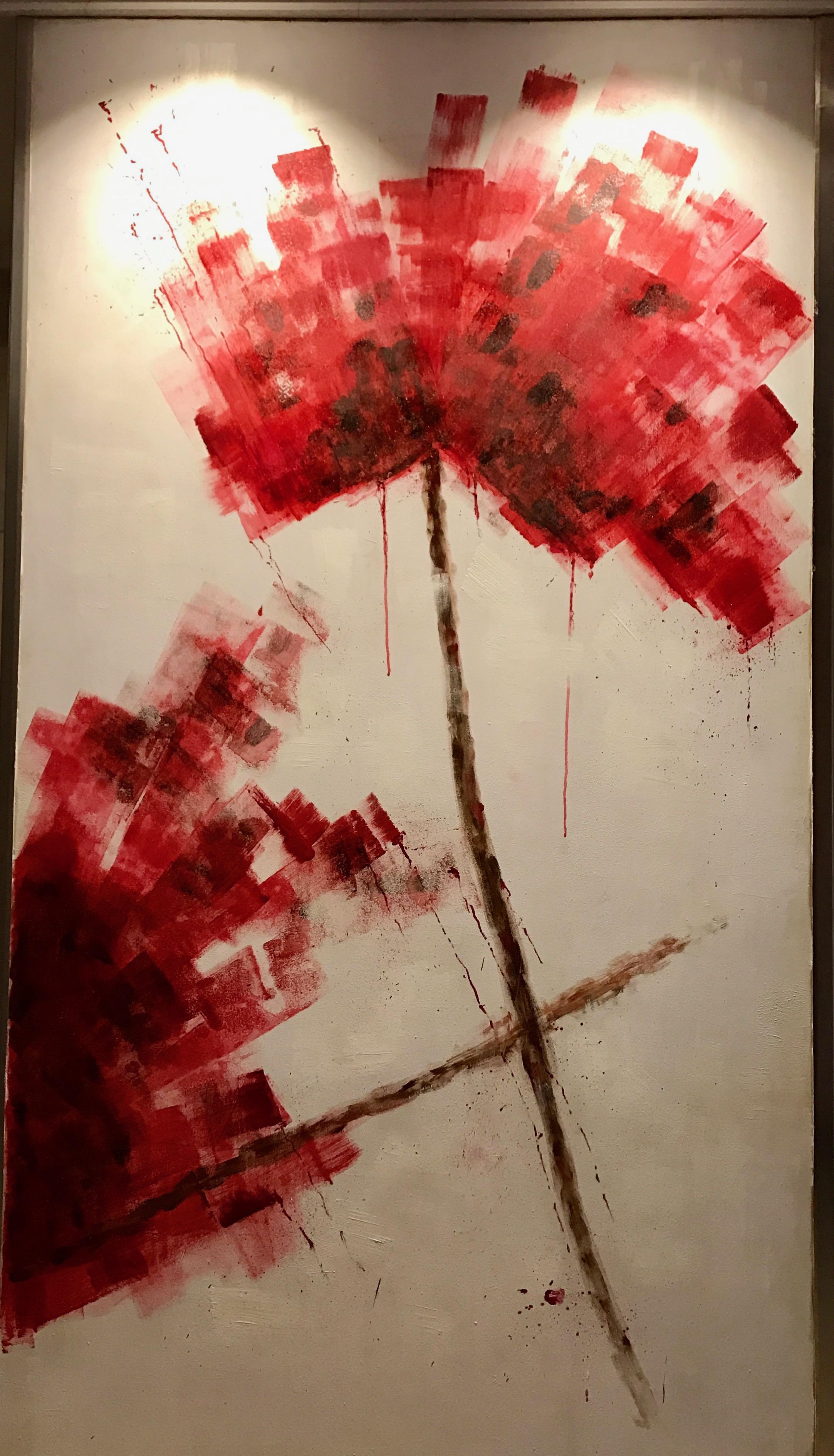 «Flor roja abstracta»