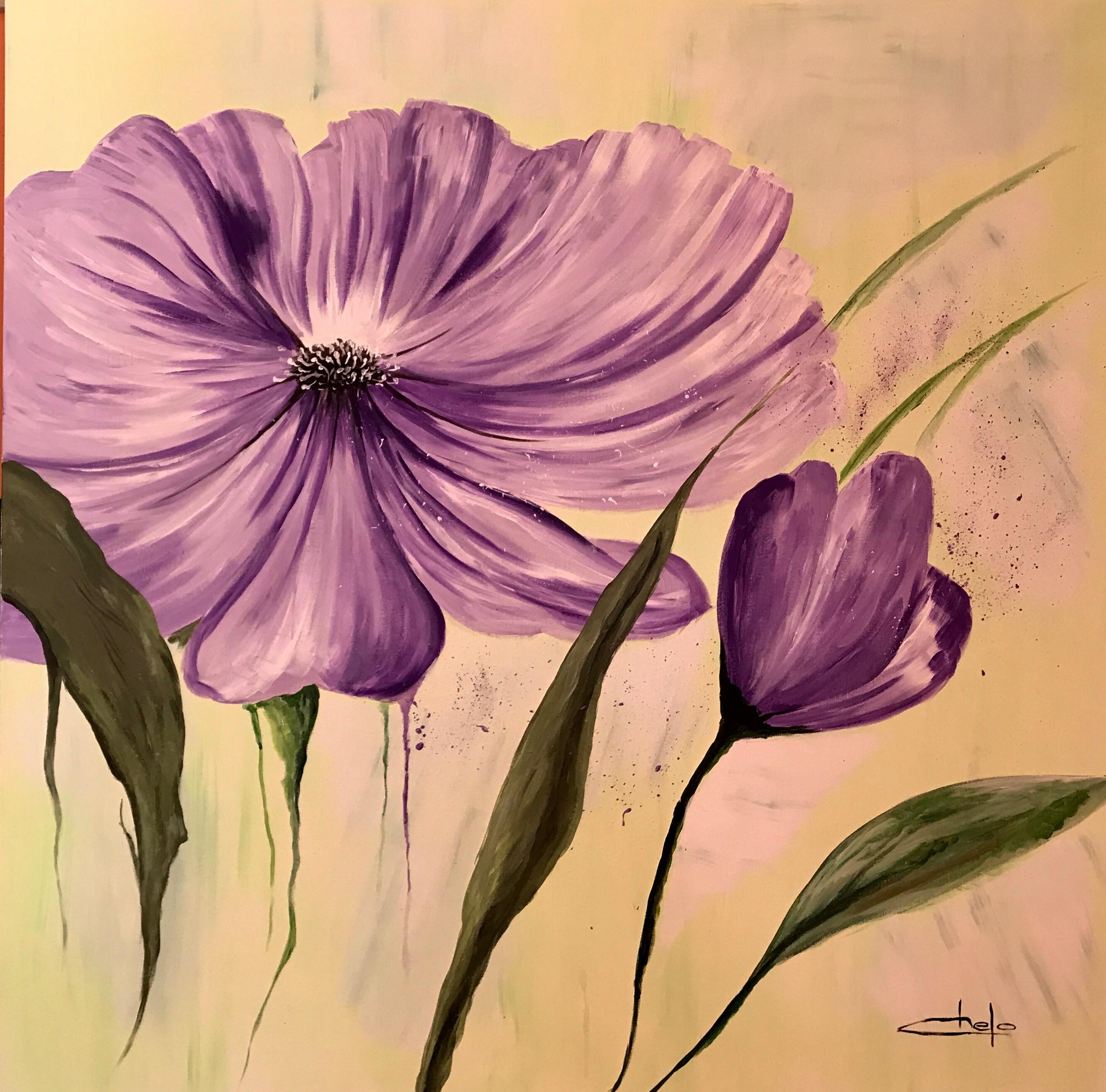 «Flores lilas»