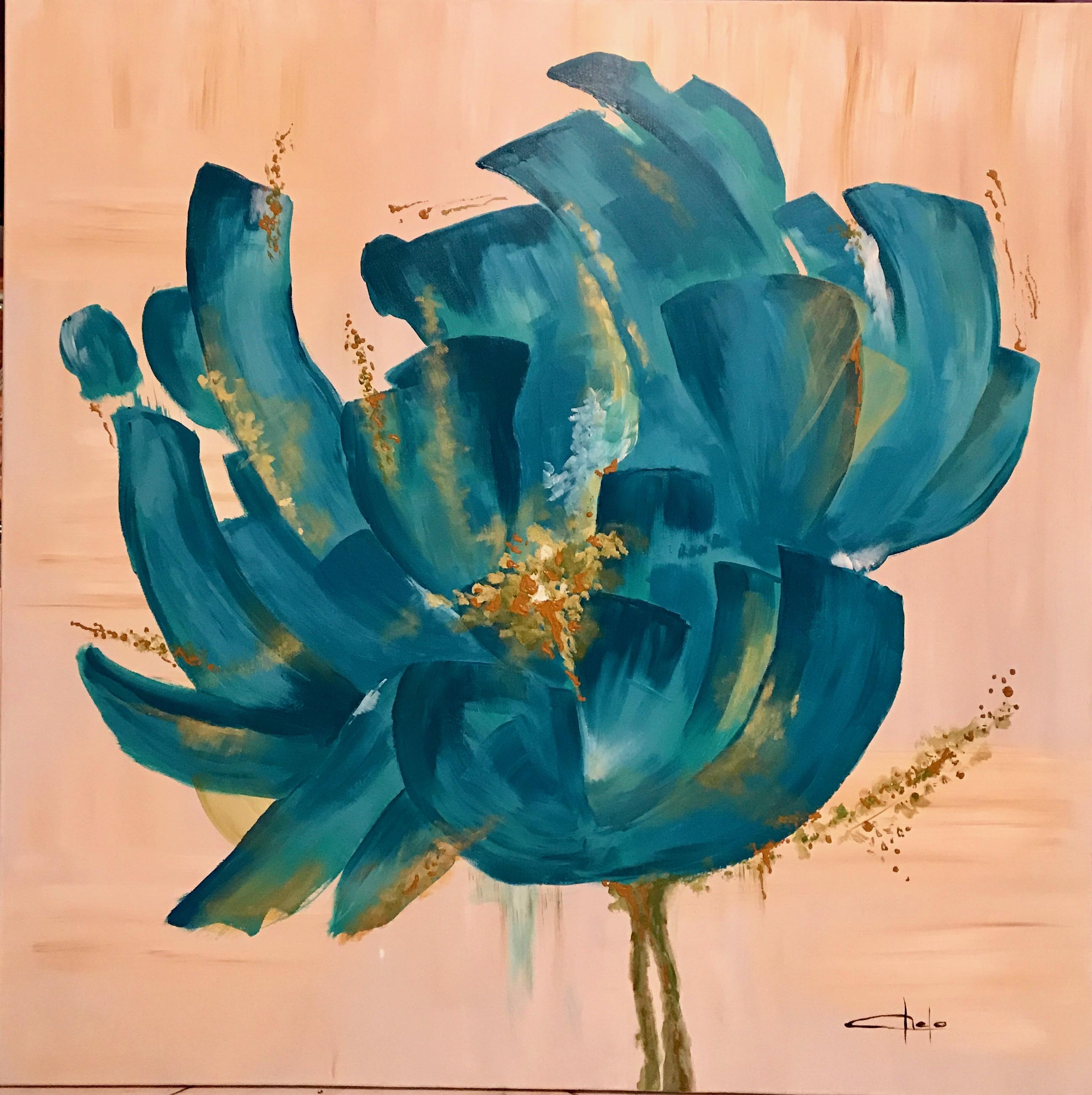 «Flor azulada»