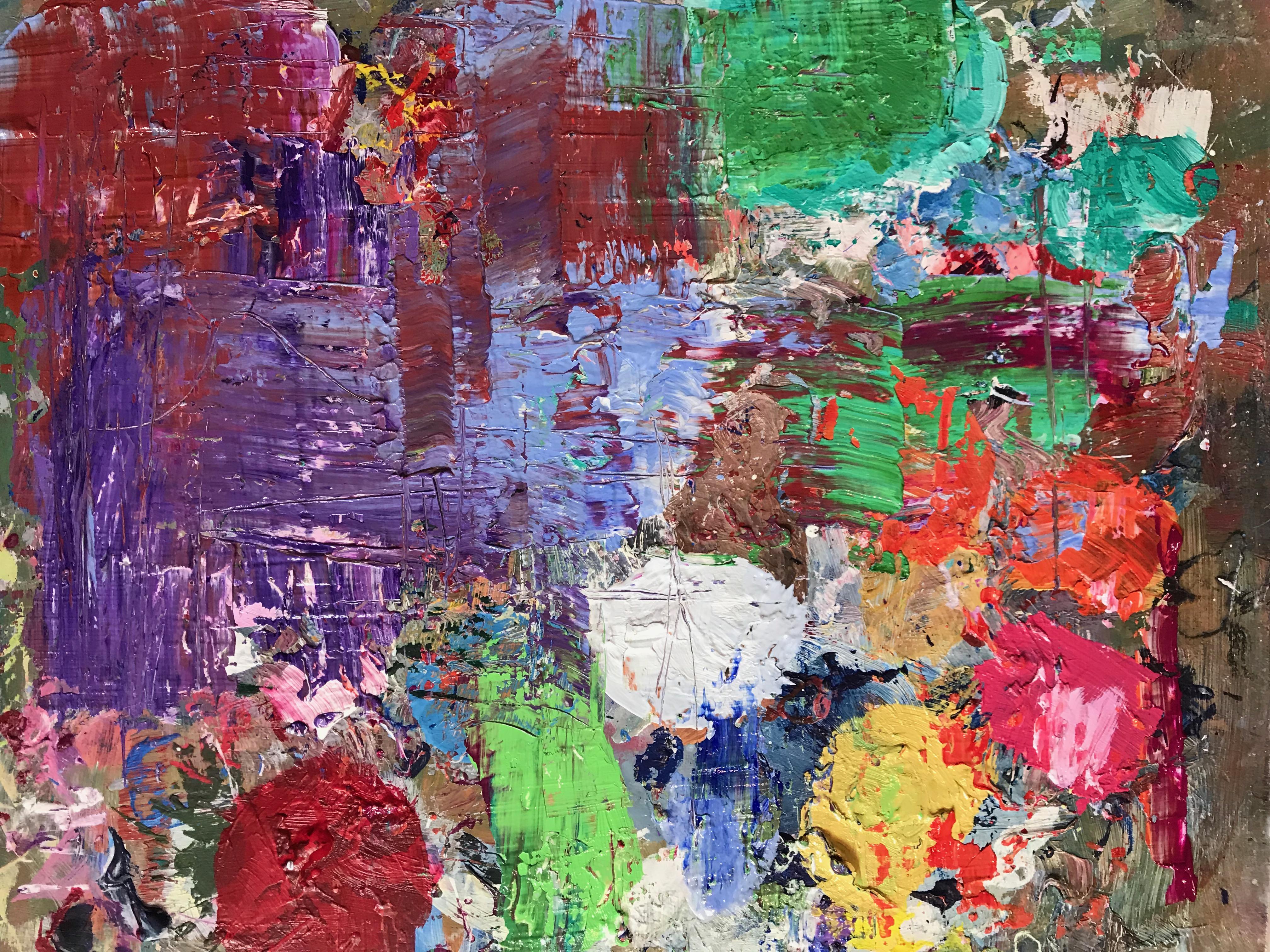 «Abstracto explosión colores»