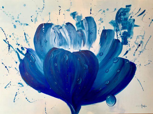 """gotas de agua en flor"""