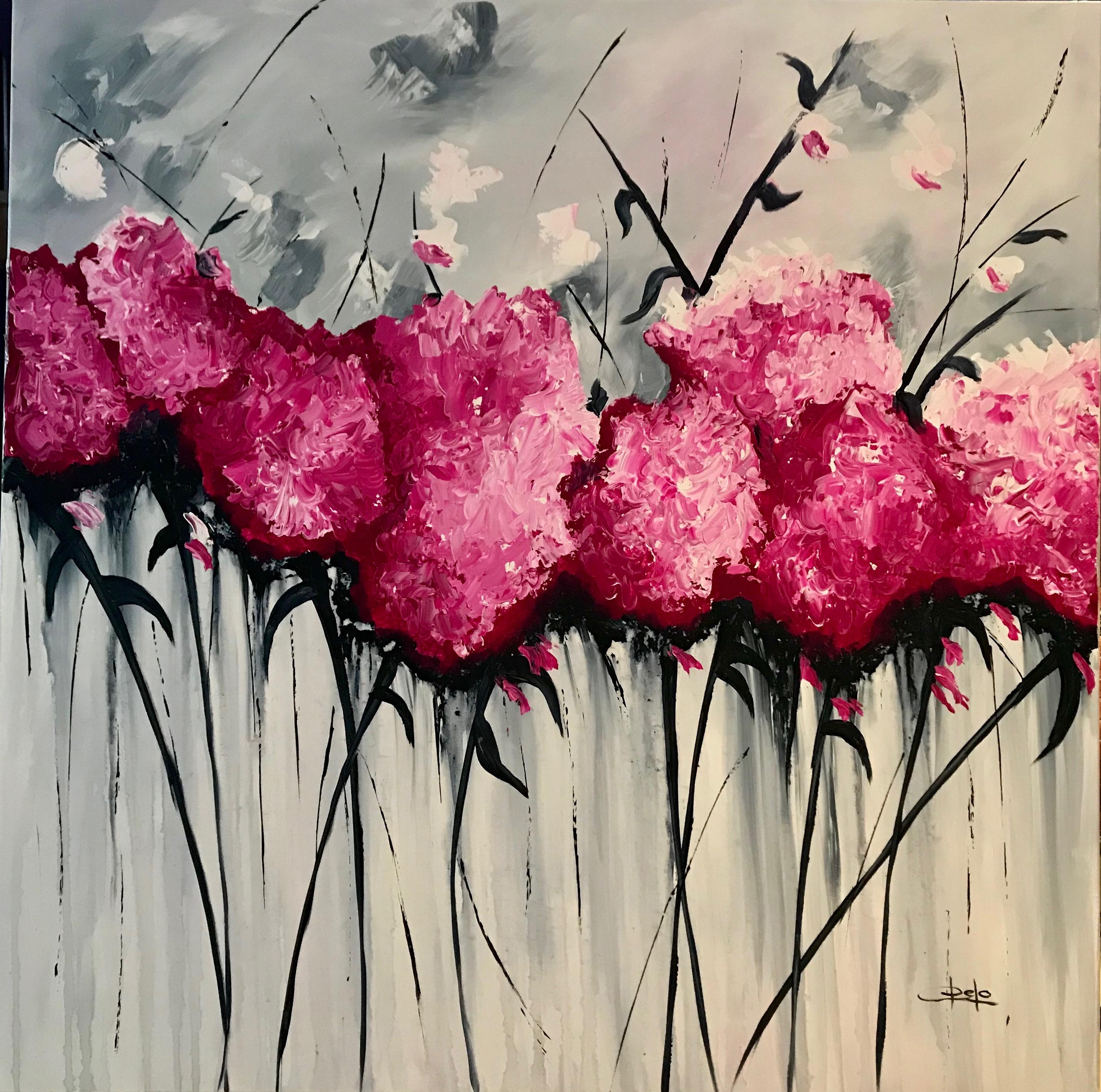 «Flores abstractas rosas»