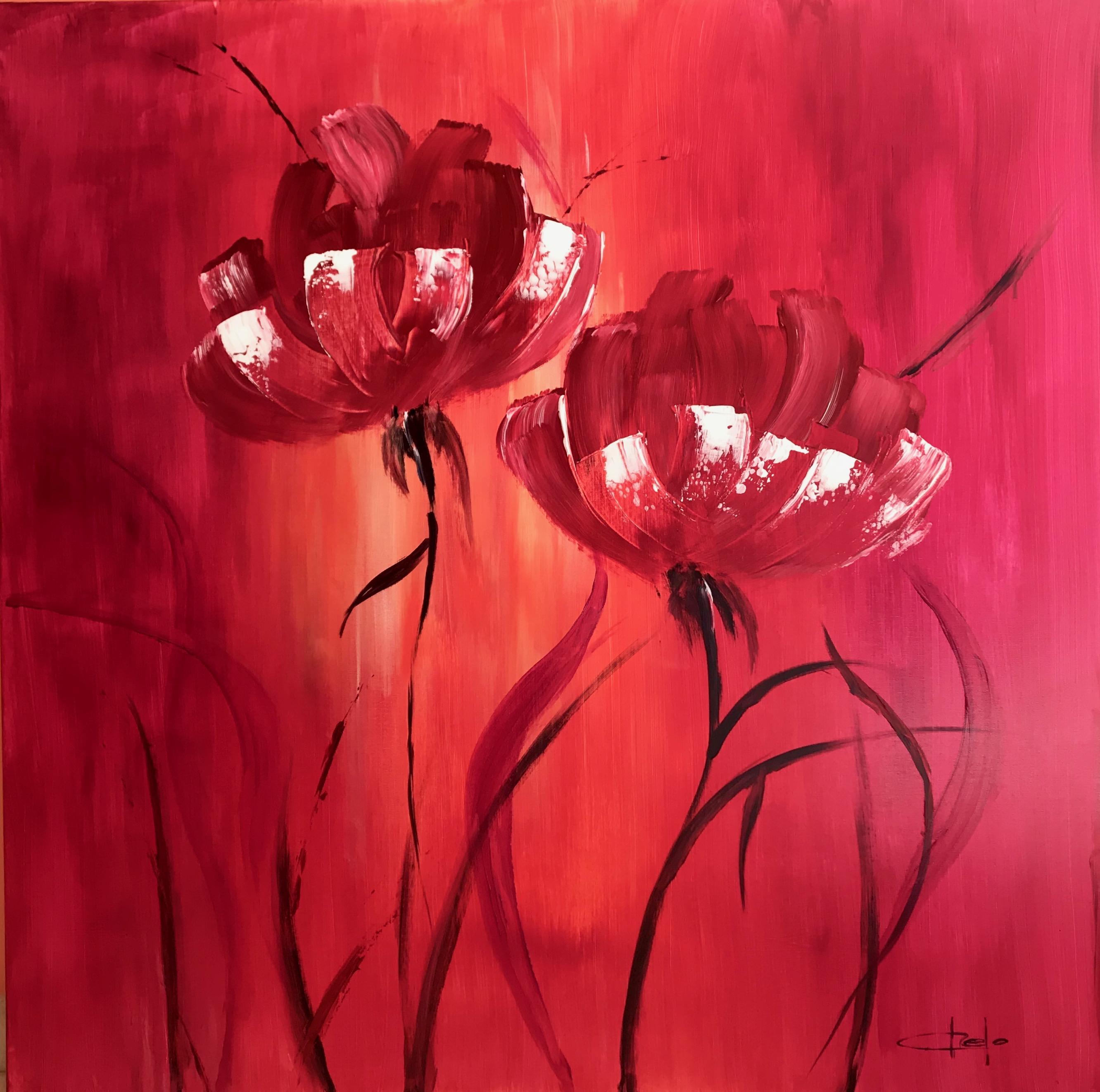 «Flores fucsias»