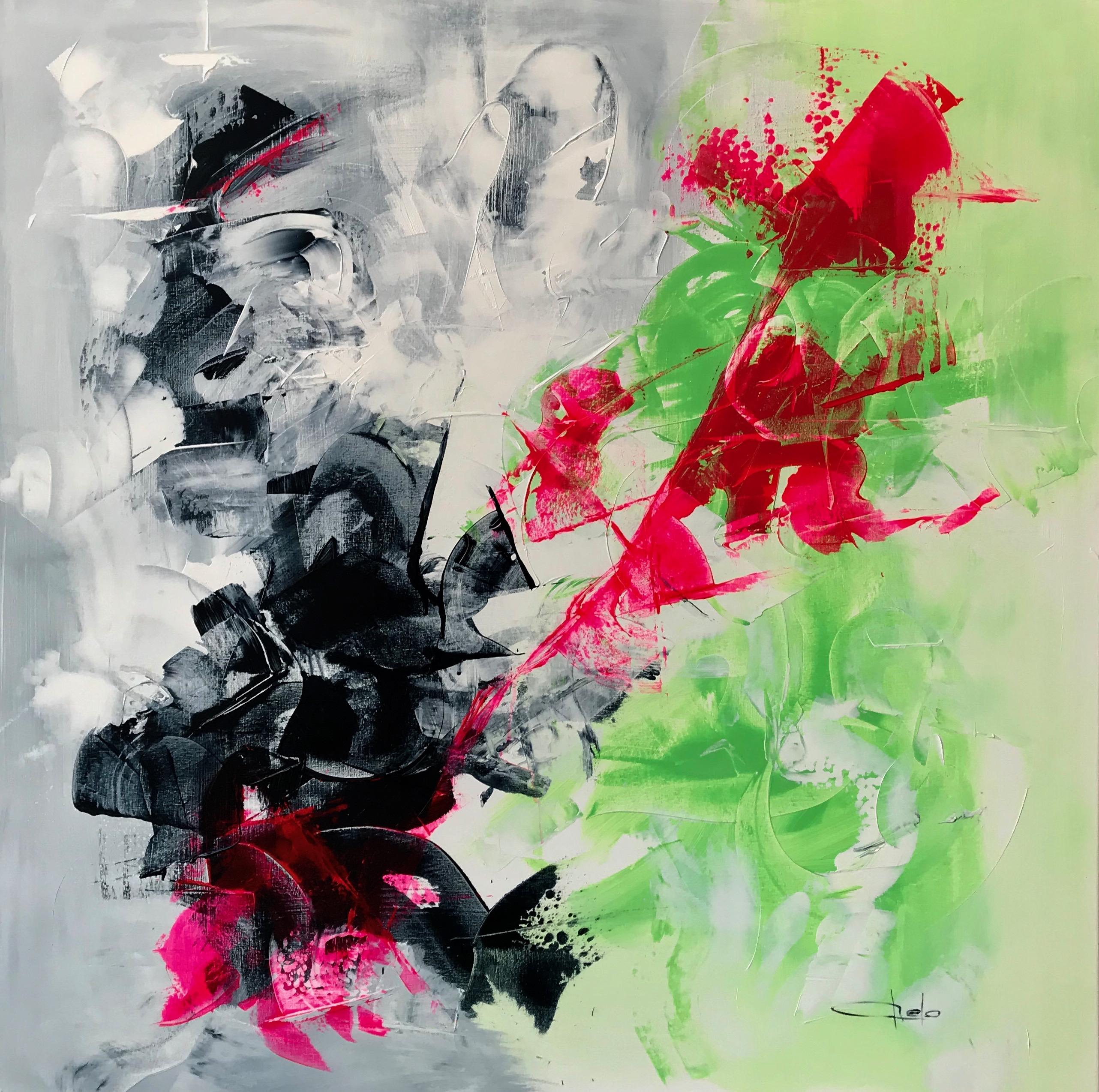 """Abstracto colores esgrafiado"""