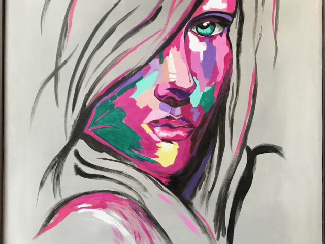«Cara mujer colores»
