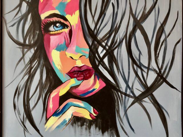 «Cara mujer colores 2»