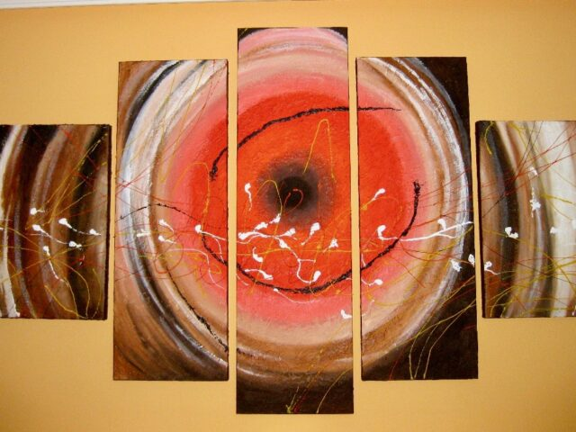 Pintura Abstracta 5 lienzos