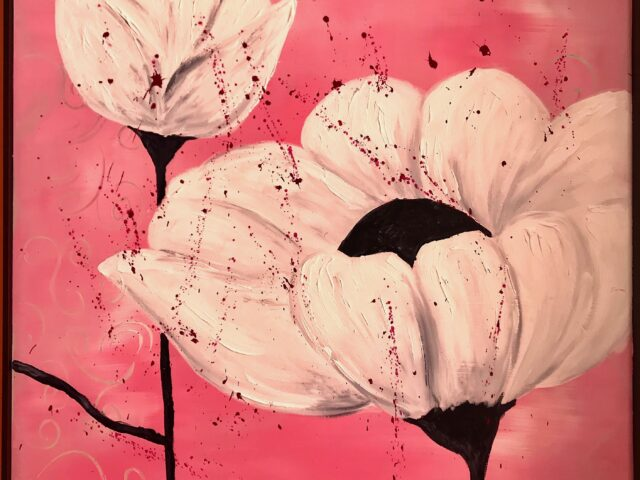 «Flor blanca y capullo»