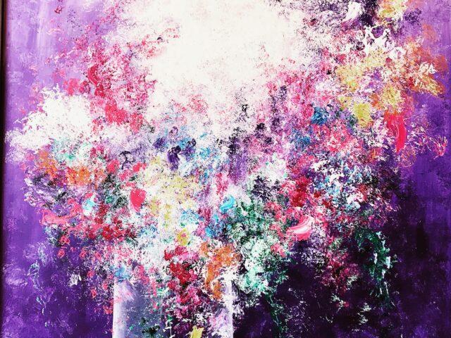 «Explosión floral morados»