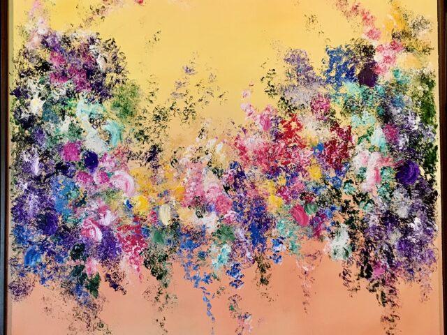 «Explosión floral naranjas»