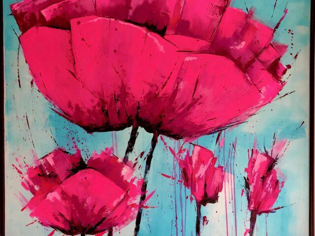 «Flor fucsia neon»